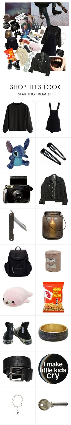 """Look for my dog(??? -_-)"" by oficerovaevgenia ❤ liked on Polyvore featuring ASOS, Disney, Clips, Fujifilm, American Apparel, Toast, Fiorelli, CO, Converse and Diesel"