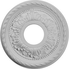 "Ekena Millwork�Primed Medallion  Lowes $27, 12"", tem #: 576537 |  Model #: CM12PM"