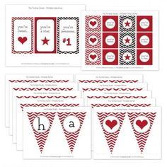Valentine's Day Free Printable Cupcake Topper Banner