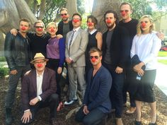 Red nose day!!!! Avengers cast!!