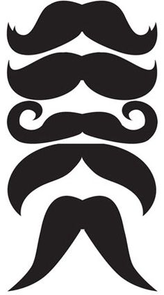 Mustache photo prop templates