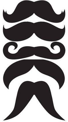 Mustache photo prop templates