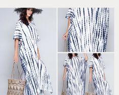White and Grey Tie Dye Kaftan|Hand Tie dyed kaftan,Swimsuit coverup,Resort wear, Beach wear,Kaftan dress,Caftan|Shibori Tie Dye Kaftan Boho #CruiseTrip #tieanddye #ResortWear #caftan #KaftanBuzz #ForMothersToBe #MaLaHandworks #TallWomen #BeautifulStoriesByJ #dyework Shibori Tie Dye, Tie Dye Maxi, Tie And Dye, Tie Dyed, Grey Tie, Hippie Dresses, Festival Dress, Tall Women, Fashion Fabric