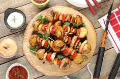 Przepis na Szaszłyk warzywno-ziemniaczany z grilla
