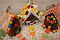 Wooden Gingerbread House Craft