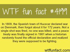 Spanish town of Huescar declared war on Denmark -  WTF fun facts #ad