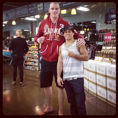 This MMA picture is guaranteed to make your day: Stefan Struve and Urijah Faber