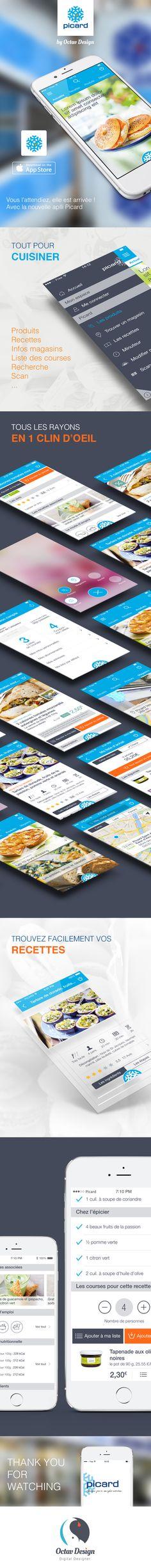 Picard App ios8 #ios8 #ios #iphone6 #iphone #app #interface #flatdesign #menu #ux #ui #design