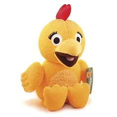 Fiesta Toys The Sunny Side Up Show Squeaking Chica Plush Stuffed Animal Toy on Sprout Pet Toys, Baby Toys, Baby Registry Items, Thing 1, Plush Animals, Stuffed Animals, Disney Junior, Kids Store, 2nd Birthday Parties