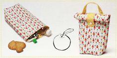 tuto sac à goûter en tissu - lunch bag pour la récré