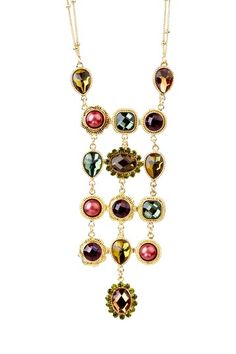Olivia Welles Gold Decorative Bezel Cascade Necklace  $21.00 (82% off)