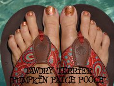 "@TawdryTerrier ""Pumpkin Patch Pooch"" - 2 bottles available at https://www.etsy.com/shop/TawdryTerrier #nailpolish #indienailpolish #tawdryterrier #halloween"