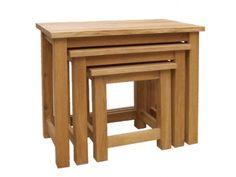 CH Furniture Brooklyn Oak Nest of 3 Tables £246.00