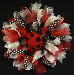 Spring Wreaths Summer Wreaths Red White Black by wreathsbyrobin, $55.00