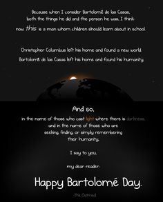 Christopher Columbus was awful (but this other guy was not) - The Oatmeal. (Click through for full comic.) Everyone should read this. It's disturbing but it needs to be known.