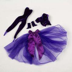 Barbie Clothes Purple Velvet outfit Long leg by eyespytreasure