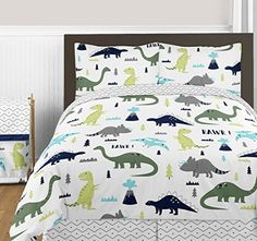 Navy Blue and Green Modern Dinosaur Boys or Girls 3 Piece... https://www.amazon.com/dp/B01NBHCMZV/ref=cm_sw_r_pi_awdb_x_RJeEybT3XVF6C