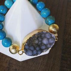 Half way there! We all made it to hump day. Anyone have exciting plans this weekend that they would like to wear this Stone Collection bracelet. This Aqua Marine bracelet is in stock and we ship 2-3 priority via USPS. You could have this by Saturday night!