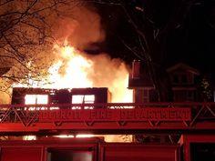 Detroit Box alarm 3 dwellings, Blaine & Wildermere, the 1st of 2 fires on the same block Donald Kili - wildfirevideoswny