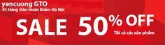 enCuong GTO xin thông báo từ ngày 14/07/2104 shop chúng tôi xả hàng hè giảm giá các sản phẩm. các quý đại lý và khách hàng quan tâm xin liên hệ: Yencuong GTO 45 Hàng Đào - Hoàn Kiếm - Hà Nội ĐT: 04.39.23.26.10  https://www.facebook.com/YencuongGTO