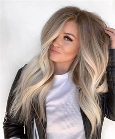 Ombre Beautiful Blends Of Balayage Ombre Hair Colors for. - , Beautiful Blends Of Balayage Ombre Hair Colors for. - Beautiful Blends Of Balayage Ombre Hair Colors for. Ombre Hair Color, Hair Color Balayage, Cool Hair Color, Fall Balayage, Hair Color For Fair Skin, Blonde Hair Dark Roots Balayage, Balayage Ombre Blonde, Highlighted Blonde Hair, Blonde Hair With Dark Roots