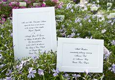 Beveled Edge Wedding Invitation #2015WeddingInvitationTrends #2015WeddingTrends