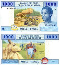 1,000 Francs  UNC Banknote
