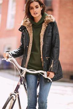 Buy Black Coated Jacket from the Next UK online shop