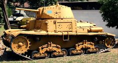 This Fiat Ansaldo Carro Armato Italian Medium Tank can be found at the Museo Storico dei Carristi, Rome, Italy. It was used at El Alamein during the Desert Campaign in North Africa during
