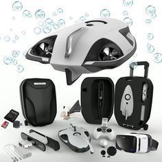Power Vision PowerRay Wizard Underwater 4K UHD ROV with FPV Headset for Real-Time Viewing, Streaming & Recording the Underwater World
