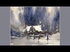 "Advancing with Watercolor - Edge Control Part 2 - ""Snow storm"" - YouTube"