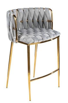 Foundstone Max Counter Stool (Set of Upholstery Colour: Grey, Frame Colour: Gold Furniture, Modern Furniture, Stool, Interior, Chair Design, Chair, Apartment Decor, Modern Interior Design, Modern Interior