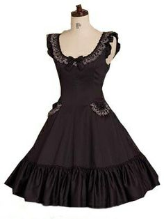 brown Short Sleeves Gothic Lolita Dress