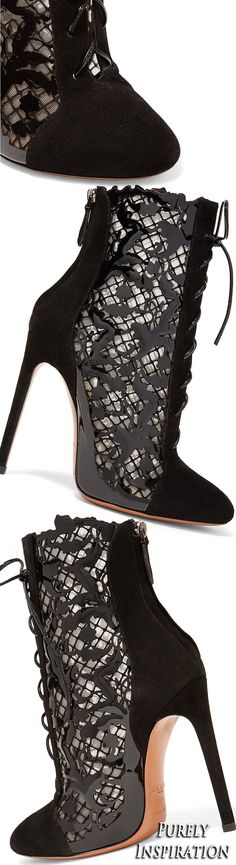 Alaïa Laser-cut ankle boots | Purely Inspiration