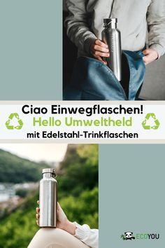 Wir sagen Einweg- und Mehrwegflaschen den Kampf an! Nie wieder Plastiktrinkflaschen. Wiederverwendbaren Trinkflaschen bieten die ideale nachhaltige Alternative zu Einwegtrinkflaschen. Nachhaltige Trinkflaschen eignen sich ideal für zu Hause, den Sport, das Büro, zum Reisen oder für Ausflüge. Glücklicherweise gibt es auch immer mehr Refill Stationen oder Restaurants, in denen man die eigene Trinkflasche auffüllen lassen kann.