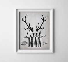 Buy One Get One Free Art Print Little Man  Deer by ThePrintAnnex