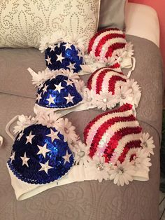 American Flag Rave Bra by glitteranddaisies on Etsy