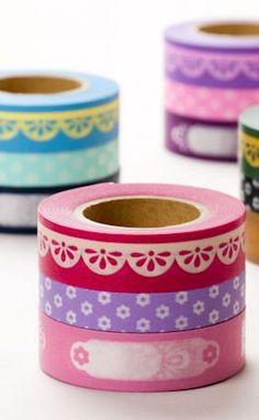 NEW Japanese washi masking tape photo deco Pink set of 3