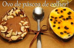 Ovo de páscoa de colher #chocolate #docesfinos Easter Chocolate, Chocolate Desserts, Dessert Shooters, Chocolate World, Easter Party, Mousse, Rolls, Pudding, Sweets