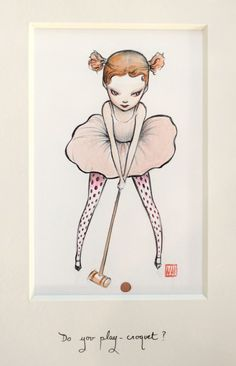 Do You Play Croquet original sketch by Mab Graves por mabgraves