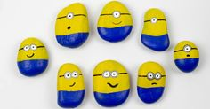 These Minion stones are a fab minion craft to do with the kids. Simple, fun and using what you will already have at home