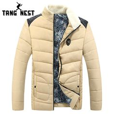 XQS Mens Single Breasted Baseball Winter Warm Thick Padded Down Jacket Coat