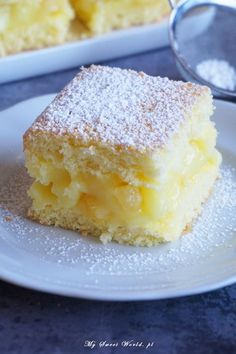 pl 2017 02 yummy-cake-with-cream-lemon-pineapple-and-pineapple-pieces www.pl 2017 02 yummy-cake-with-cream-lemon-pineapple-and-pineapple-pieces Sponge Cake Recipes, Easy Cake Recipes, Sweet Recipes, Baking Recipes, Dessert Recipes, Polish Desserts, Polish Recipes, Sweet Desserts, Holiday Desserts