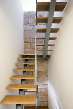 Image 9 of 26 from gallery of Tensai Offices / ADA - Atelier de Arquitectura. Photograph by Fernando Guerra Steel Stairs, Loft Stairs, House Stairs, Spiral Staircase, Staircase Design, Escalier Design, Modern Stairs, Interior Stairs