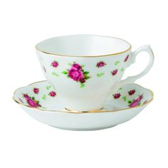 Royal Albert New Country Roses Formal Vintage Teacup and Saucer Boxed Set, White Royal Albert http://www.amazon.com/dp/B007AGR13G/ref=cm_sw_r_pi_dp_bmgcub1CMQTX1