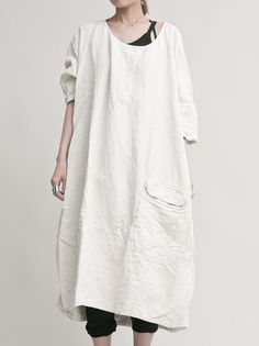 WOMEN DESIGNER :: RUNDHOLZ DIP :: 14SS :: RUNDHOLZ DIP Oversize one‐piece dress