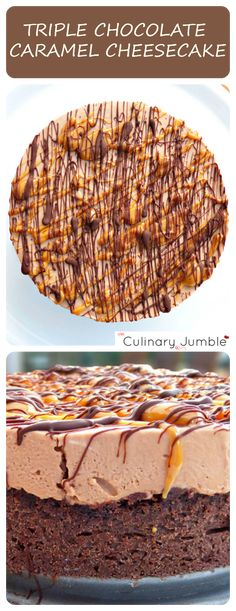 Triple Chocolate Caramel Cheesecake