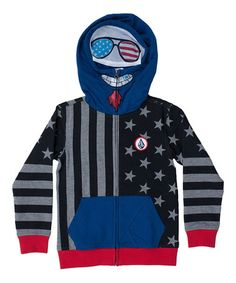 This Black & Blue Merry Kuh Full-Zip Hoodie - Toddler & Boys is perfect! #zulilyfinds