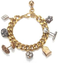 Gold Victorian Charm Bracelet 2