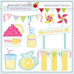 Claire's Lemonade Stand. Cute supplies from Grandma. July
